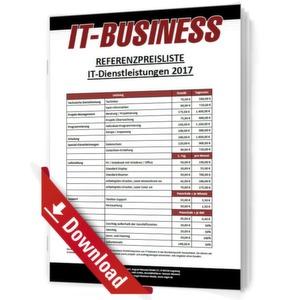 IT-BUSINESS Referenzpreisliste IT-Dienstleistungen