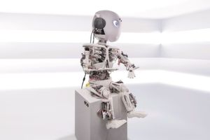 Der Körperaufbau des Prototypen Roboy Junior stammt aus dem 3D-Drucker – damit können die Forscher schnell und modular weitere Modelle herstellen.