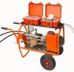 Komplett-Prüfsystem mit Pumpe, Prüfkoffer und Druckablasskoffer