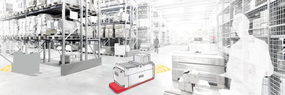 Ultraschallsensor macht die Logistik sicherer