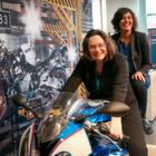 Unsere Ministerin fährt in Spandau Motorrad