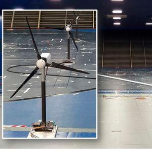 Im Windkanal wurden die Wechselwirkungen zwischen Windkraftanlagen mit Hilfe von Modellen erforscht.