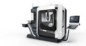Die kompakt gebaute DMU 50 3rd Generation setzt neue Standards in der Fünf-Seiten- bis Fünf-Achs-Simultanbearbeitung.