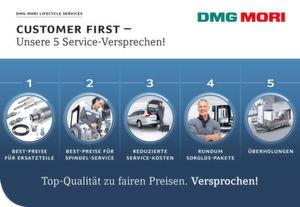 Mit fünf Service-Versprechen garantiert DMG Mori seinen Kunden maximale Servicequalität zu fairen Preisen.