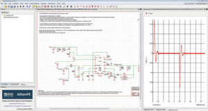 Bild 1: Simulation mit dem Tool ADIsimPE, das einen SIMPLIS-Simulator beinhaltet.