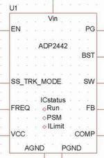 Bild 2: Beispiel eines SIMPLIS-Modells des Schaltreglers ADP2443