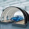 Lichttunnel zur Qualitätskontrolle von Lackoberflächen