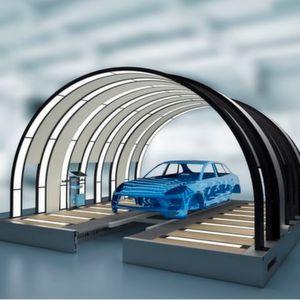Der Lichttunnel Eco Reflect bietet visuell und ergonomisch bestmögliche Voraussetzungen, um die Qualität von Lackoberflächen zu kontrollieren.