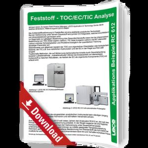 Feststoff TOC/EC/TIC Analyse