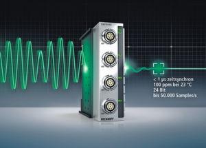 Mit den EtherCAT-Messtechnikmodulen erweitert Beckhoff sein Messtechnik-Sortiment um die Präzisions- und Hochgeschwindigkeits-Messtechnik.