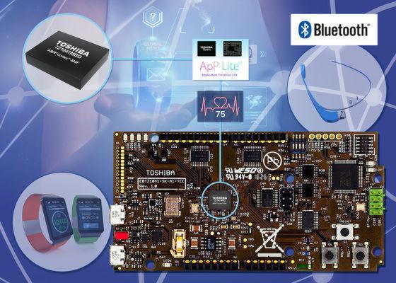 Das Toshiba-Entwicklerkit für tragbare Anwendungen (Wearables) enthält als Herzstück den Prozessor TZ1041MBG, ein Derivat des Cortex M4F von ARM.