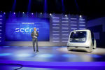 """Volkswagen-Konzernchef Matthias Müller hat am Vorabend des Genfer Salons die Studie """"Sedric"""" vorgestellt."""
