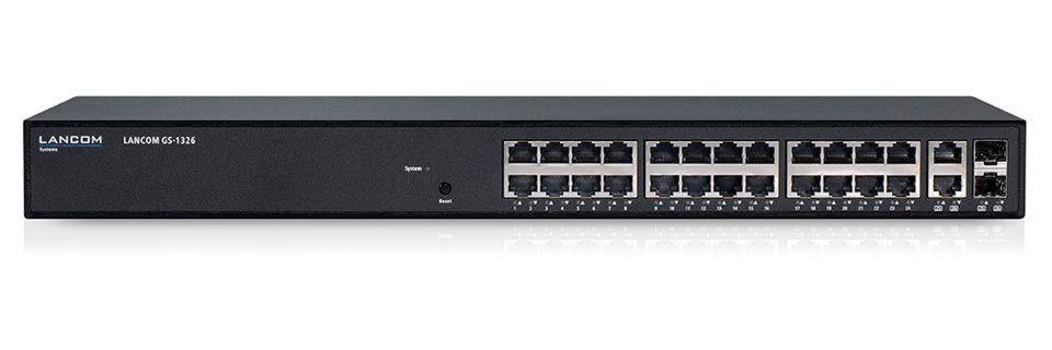 Der Lancom GS-1326 ist ein Switch für Netzwerkinfrastrukturen in kleinen und mittleren Unternehmen.