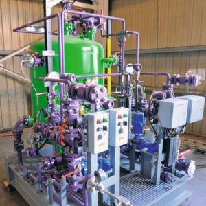 Compact, connection-ready metering system for precise metering of sodium hypochlorite