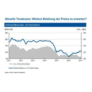 Bleiben die Weltrohstoffpreise jetzt stabil, oder muss mit einer weiteren Preiserhöhung gerechnet werden? Die Experten der IKB erklären die Entwicklungen auf den Rohstoffmärkten in den Grafiken der Bildergalerie des Artikels.