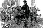 Das erste offiziell anerkannte Elektrofahrzeug: Dieses Dreirad von M. Gustave Trouvé wurde auf der Internationalen Elektrizitätsausstellung in Paris 1881 vorgestellt.