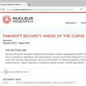 Fabasoft punktet mit sicherem Cloud-ECM