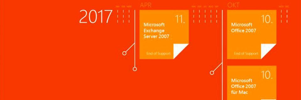Der Support für Office 2007, Visio 2007, Exchange Server 2007, SharePoint Server 2007 und Project Server 2007 endet planmäßig in diesem Jahr.