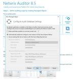 Die Überwachungsdaten werden in einer Microsoft SQL-Datenbank gespeichert. Hier lässt sich entweder eine vorhandene Installation verwenden, oder Netwirx Auditor lädt automatisch die kostenlose Microsoft SQL Server 2014 SP1-Express Edition herunter und installiert diese auf dem Rechner. Auch die Einrichtung erfolgt automatisch.