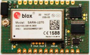 Das Prototyping-Board von Longlatec verwendet einen Cortex M0+ mit 4 kByte RAM, 16 kByte Flash und 12 MHz. Ein SIM-Chip ist bereits im Modul integriert.