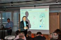 Christophe Loetz, Geschäftsführer der Compex Systemhaus GmbH, stellte die Softwareentwicklungsumgebung OS.bee vor.