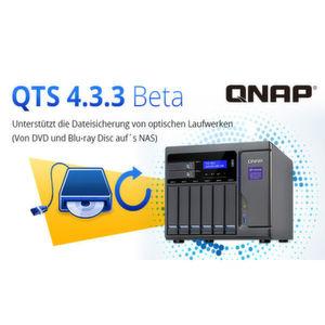Das Qnap-Betriebssystem QTS 4.3.3 Beta bietet eine Möglichkeit zur Einbindung optischer USB-Laufwerke.