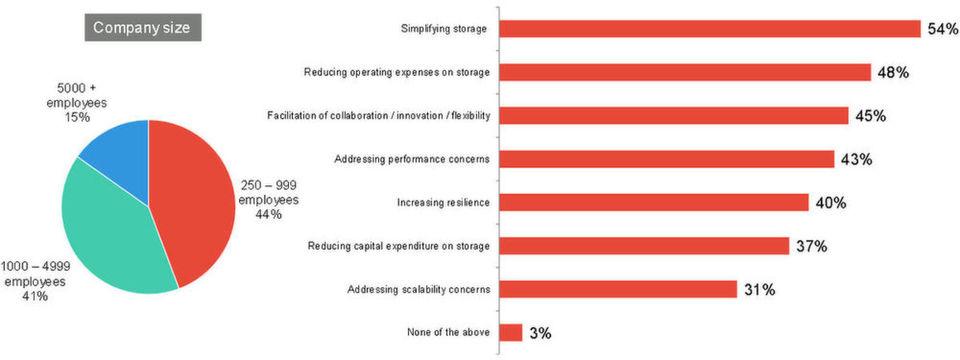 Mit welchen Storage-Herausforderungen und -Aufgaben sehen sich Unternehmen konfrontiert? Und in welchem Umfang begegnen sie diese innerhalb der kommenden zwölf Monate mithilfe von Software Defined Storage? Hier die Ergebnisse auf internationaler Ebene, 1202 Unternehmen.