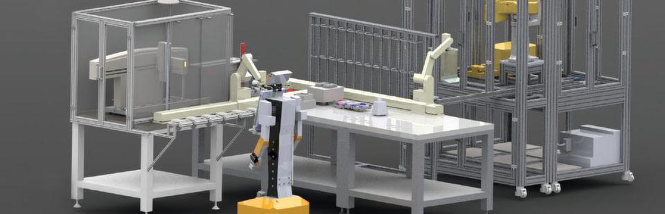 Abb. 1: Das vollautomatisierte Analytiklabor der Zukunft – so könnte es aussehen.