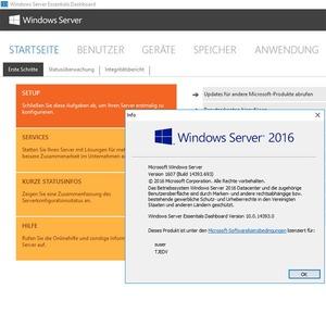 Windows Server 2016 Essentials für kleine Unternehmen
