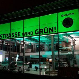 Die Jacobs-Gruppe hat in Aachen einen 650 Quadratmeter großen Showroom für Skoda umgerüstet.