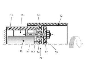 Kinematik für ein intrakorporal angetriebenes Instrument eines Endoskops.