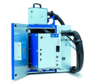 """Das neu entwickelte Abgasmessgerät """"APCplus"""" hat eine um 20 Prozent verbesserte Leistung, um kleinste Partikel schneller und präziser zu messen."""