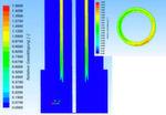 Simulierte Gassättigung des Aerosol-stroms im Sensor.