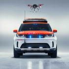 Land Rover Discovery mit Drohne für den Not- und Katastropheneinsatz