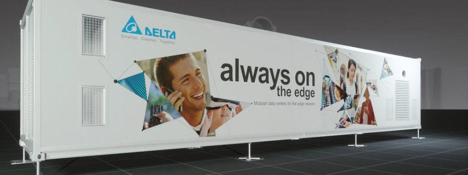 Das Container-Rechenzentrum von Delta besitzt eine All-in-One-Konstruktion mit AC oder dualen Stromversorgungen (AC und DC) und ist hervorragend geeignet für Edge-Computing-Anwendungen.