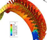Die Rotorblätter sind Überschallimpuls-Blätter, die radial ausgerichtet sind und die axiale Schaufelkaskade des Rotors bilden.