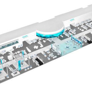 """Auf der Hannover Messe 2017 will Siemens zeigen, wie Industriebetriebe jeder Größe vom digitalen Wandel profitieren können. Im Mittelpunkt des 3500 m² großen Messestands in Halle 9 steht das unter dem Thema """"Digital Enterprise"""" weiter ausgebaute Angebot für das das durchgängig digital arbeitende Unternehmen."""