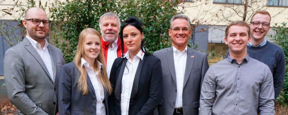 Von links: René Schäfer, Kirsten Hasenpusch, Harald Rabe, Maria Schuch, Jürgen Hieke, Florian Pötzl, Max Kumpf.