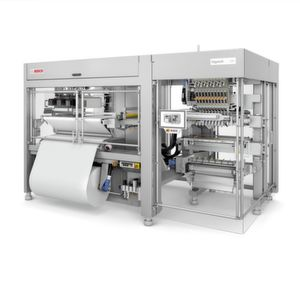 With the new Sigpack VPF (Vertical Platform Flat Pouch), Bosch introduces the first freely scalable flat pouch machine to the market