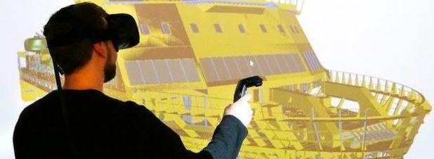 Die am Darmstädter Fraunhofer-Institut für Graphische Datenverarbeitung entwickelte Technik ermöglicht es, komplexe Konstruktionsmodelle in der virtuellen Realität zu betrachten.