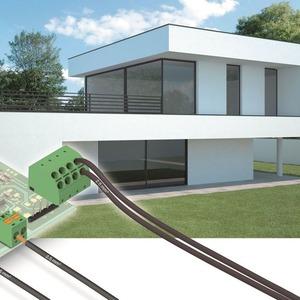 Für das intelligente Gebäude von morgen: kostengünstige Anschlusstechnik