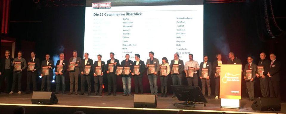 "Die 22 Gewinner der ""Motorrad""-""Best Brand""-2017-Preisverleihung."