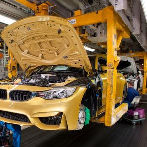 Die Produktion im BMW-Werk München musste für 40 Minuten angehalten werden.