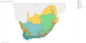Mit Tibco Spotfire Location Analytics lassen sich etwa die Lebensräume von Arten räumlich darstellen.