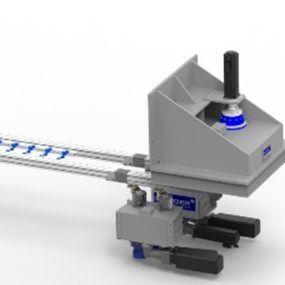 Das Doppelschwingen-Transfergerät DSTG von Sander Automation bietet extrem steife Greiferschienen.