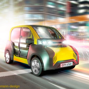 Urbanes E-Auto mit Akkuwechselsystem