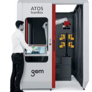 Atos Capsule combines GOM technologies, such as Blue Light Technology and the triple-scan principle, with a housing design that provides protection against dust and splashing water.