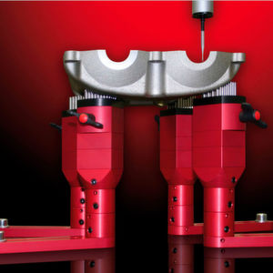 Germany-based Christian Bewer's Pintec, a modular clamping system, is said to fix difficult-shaped workpieces in the metrology room quickly and easily.