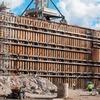 Ein Schutzwall für die Ewigkeit mit Pfählen aus Stahl