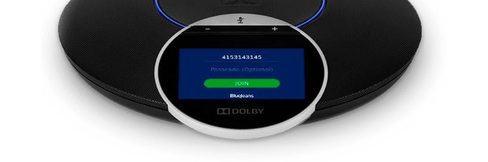 Das Dolby Conference Phone wird künftig ein Teil von BlueJeans Huddle sein.